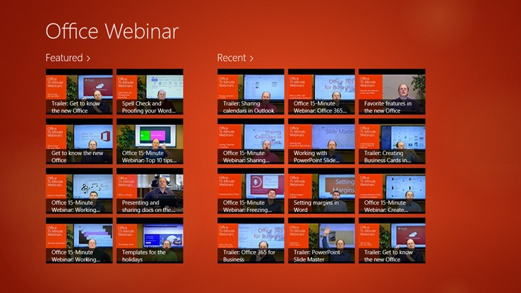 Office Webinar screen shot 0