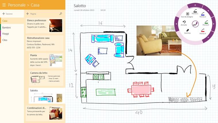 OneNote cattura di schermata 2