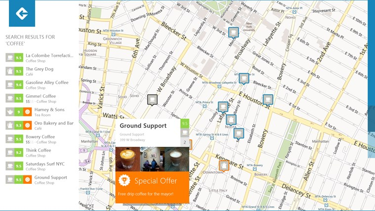 Foursquare screen shot 2