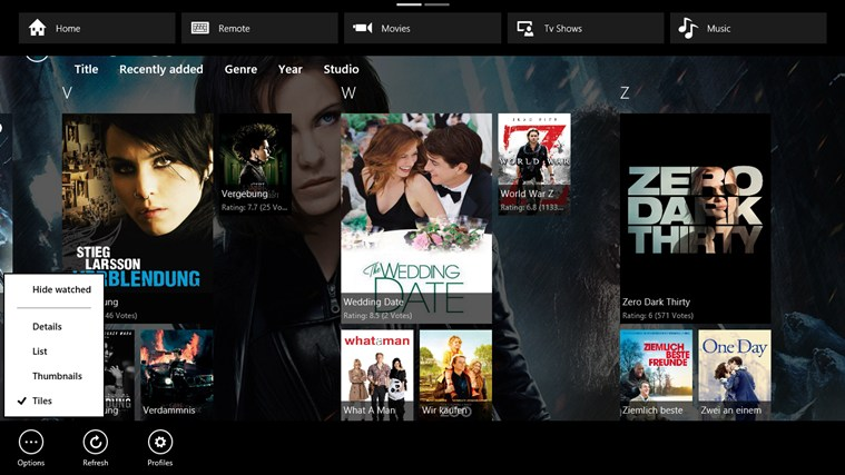 XBMC Remote screen shot 2