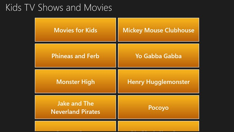 Kids TV Shows and Movies screen shot 0