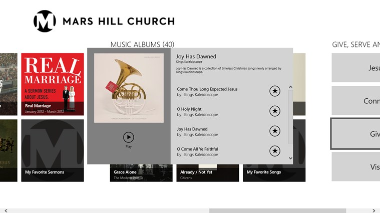 Mars Hill Church screen shot 6