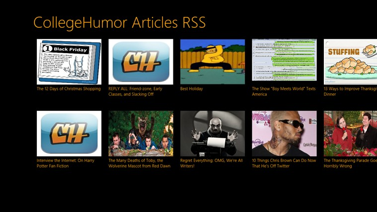 CollegeHumor Articles RSS screen shot 0