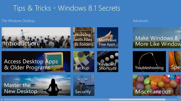 Tips & Tricks - Windows 8.1 Secrets screen shot 2