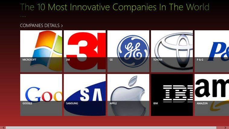 TOP 10 INNOVATIVE COMPANIES IN WORLD screen shot 0