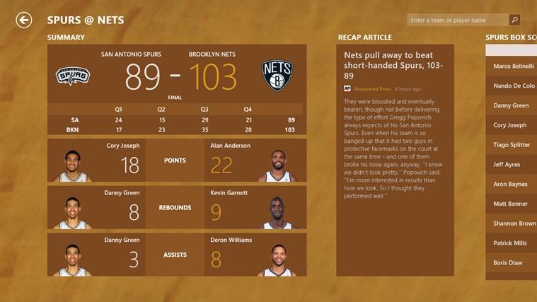 Bing Sport screen shot 6