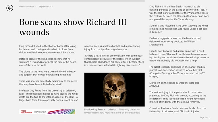 MSN News screen shot 2
