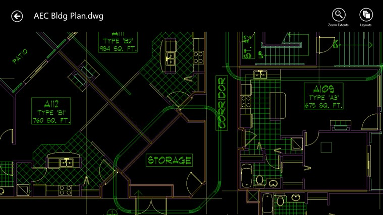 AutoCAD 360 screen shot 2