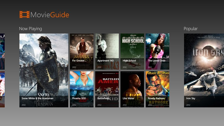 Movie Guide screen shot 2