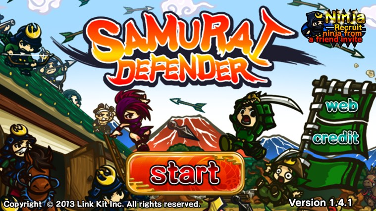 Samurai Defender screen shot 0