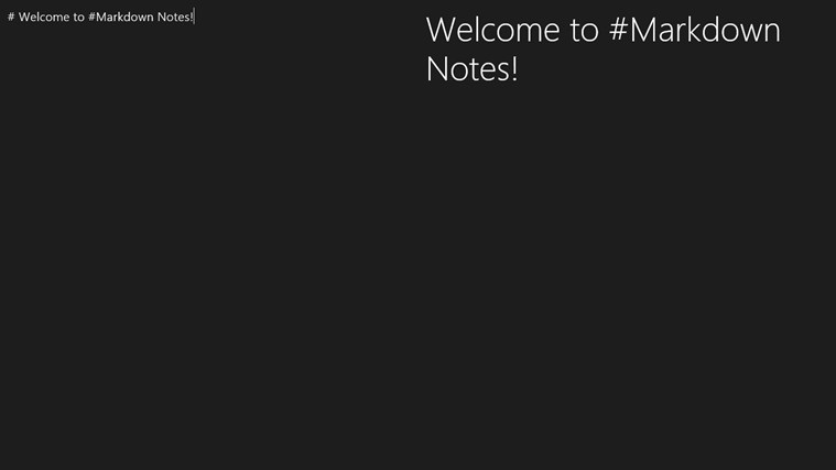 #Markdown Notes screen shot 0