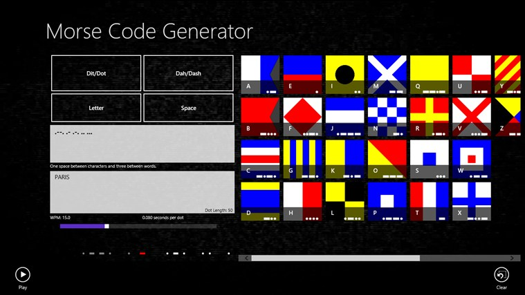 Morse code generator screen shot 0