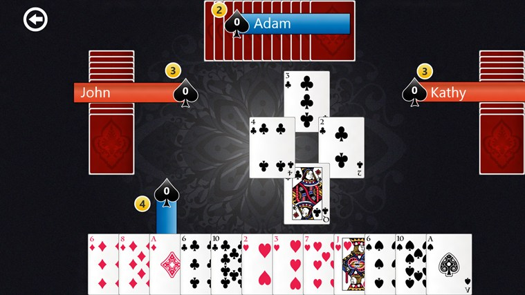 how to play spades card game with 3 players