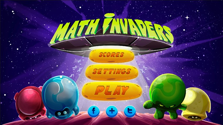 Math Invaders captura de pantalla 0
