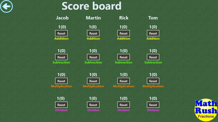 Math Rush Fractions screen shot 6