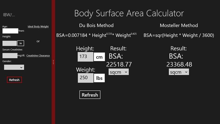 설명 body surface area is the calculated surface of a human body ...