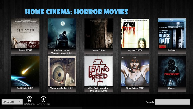 Home Cinema: Horror Movies for Win8 UI  full