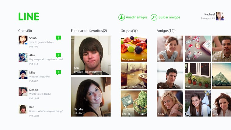 LINE captura de pantalla 2