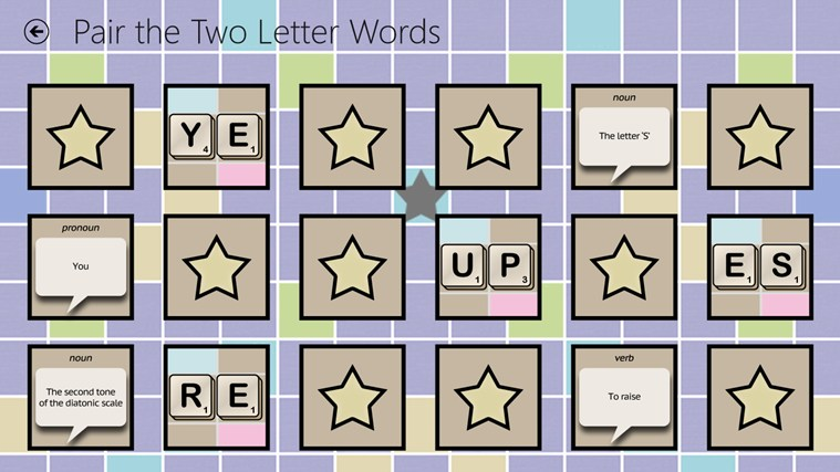 Matchups two letter words for windows 10 free download on for Window 4 letter words