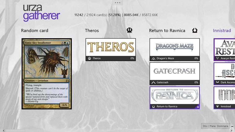 UrzaGatherer screen shot 0