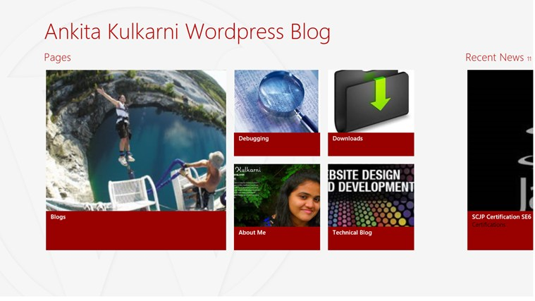 Ankita Kulkarni Wordpress Blog screen shot 0