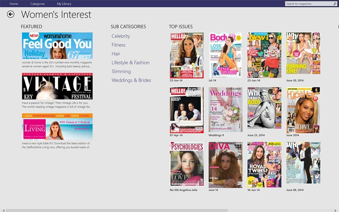 Pocketmags screen shot 2