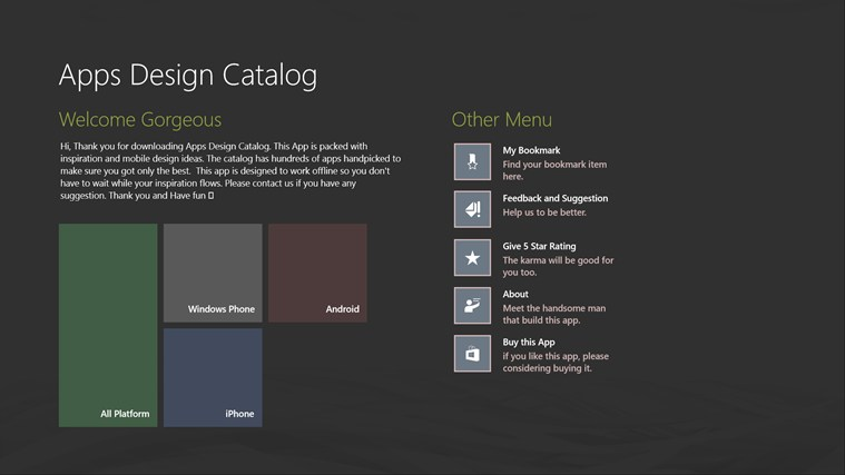 Apps Design Catalog screenshot 0
