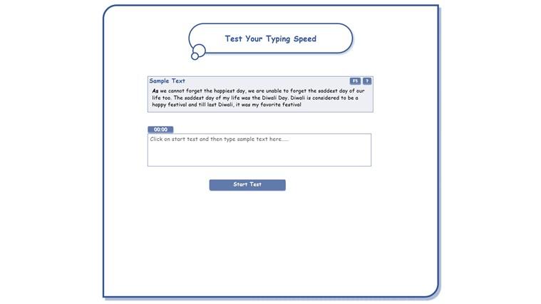 Typing Speed Test screen shot 0
