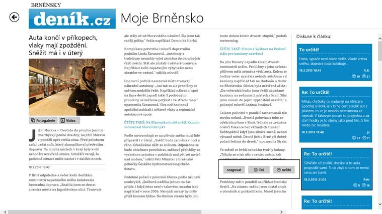 Deník.cz snímek obrazovky 2