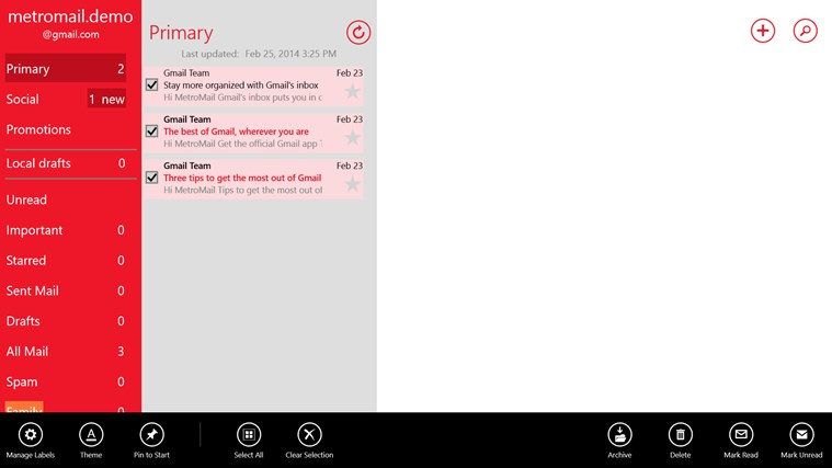 MetroMail screen shot 4