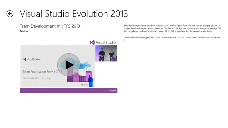 Visual Studio Evolution Screenshot 2