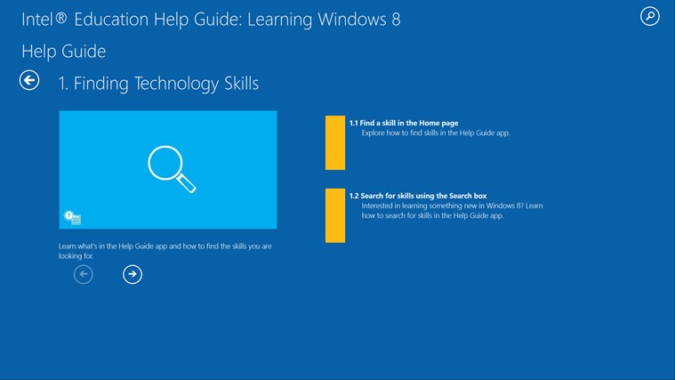 Intel® Education Help Guide: Learning Windows* 8 screen shot 0