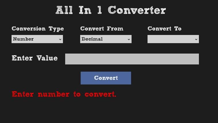All in 1 Converter screen shot 2