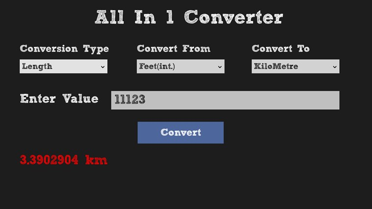 All in 1 Converter screen shot 4