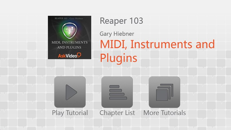 Reaper: MIDI, Instruments and Plugins zrzut ekranu 0