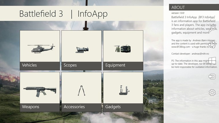 Battlefield 3 InfoApp screen shot 0