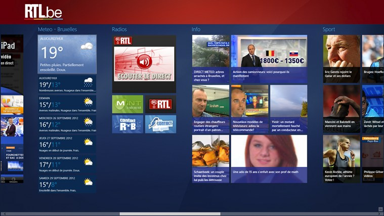 RTL.be capture d'écran 4