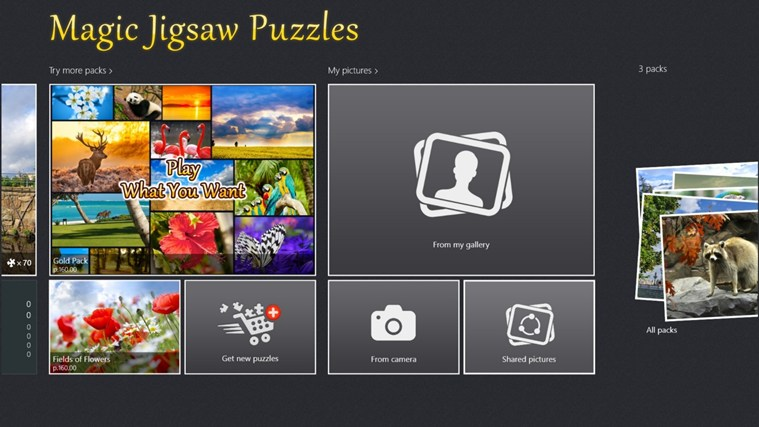 Magic Jigsaw Puzzles screen shot 0