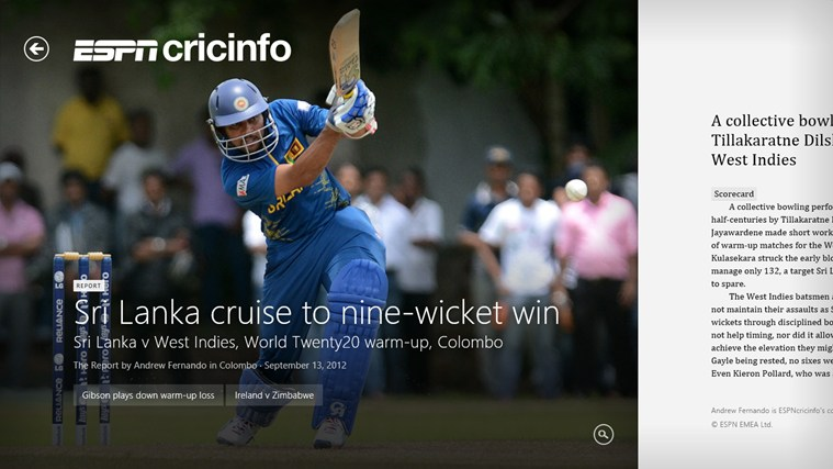 ESPN Cricinfo screen shot 6