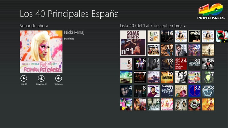 Los 40 Principales screen shot 0