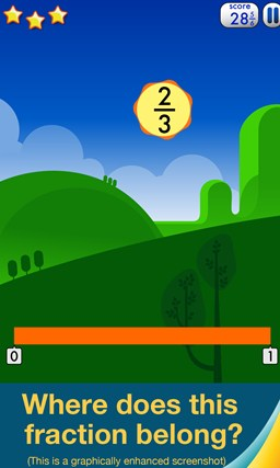 Motion Math: Fractions! screen shot 2