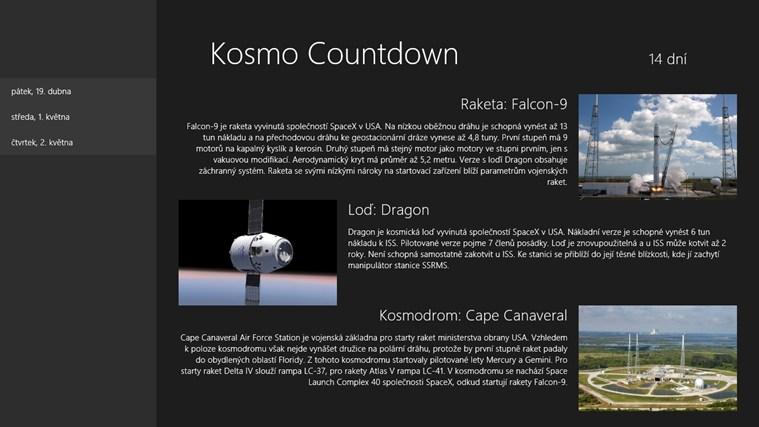 Kosmo Countdown snímek obrazovky 0