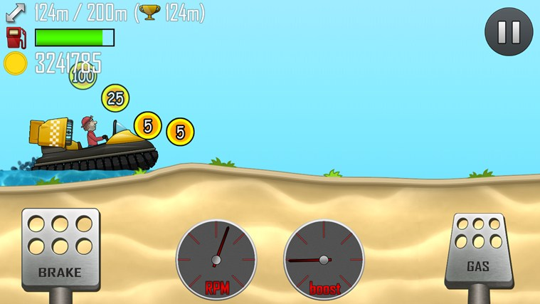 Hill Climb Racing screen shot 2