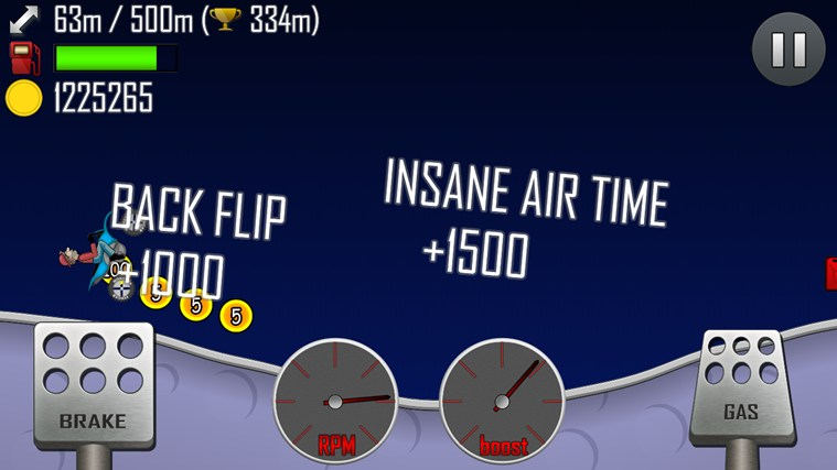 Hill Climb Racing screen shot 4