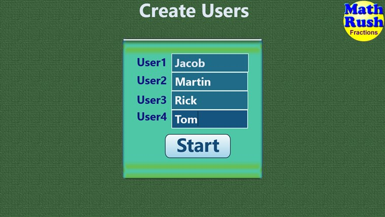 Math Rush Fractions screen shot 0