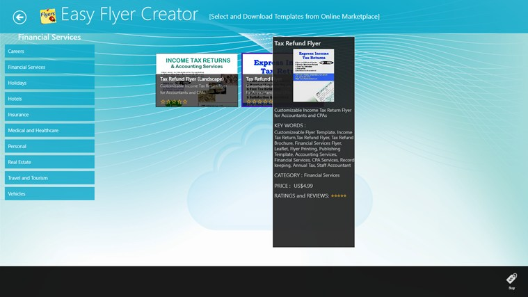 Easy Flyer Creator screen shot 2