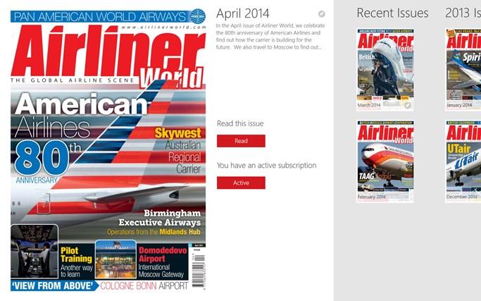 Airliner World Magazine Airliner World Magazine Screen