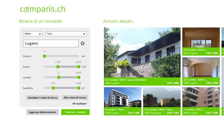 Immobili Svizzera cattura di schermata 0
