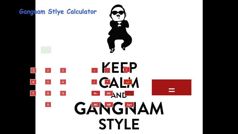 Gangnam Style Calculator screen shot 0