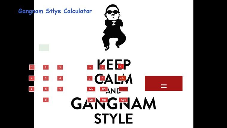 Gangnam Style Calculator screen shot 0